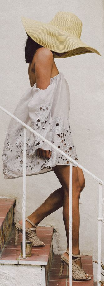 Stone Cold Fox White Embroidered Cutout Detail Off The Shoulder Dress
