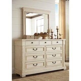 Shop for Signature Design by Ashley Bolanburg White Dresser with Mirror. Get free shipping at Overstock.com - Your Online Furniture Outlet Store! Get 5% in rewards with Club O! - 19785939