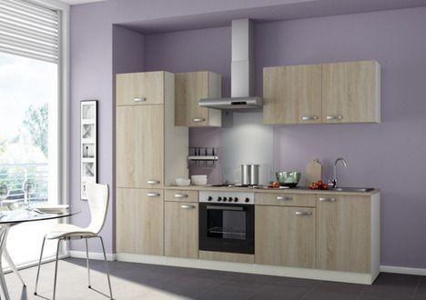 Küchenblock KOMPAKT PADUA - houtprint op frontjes