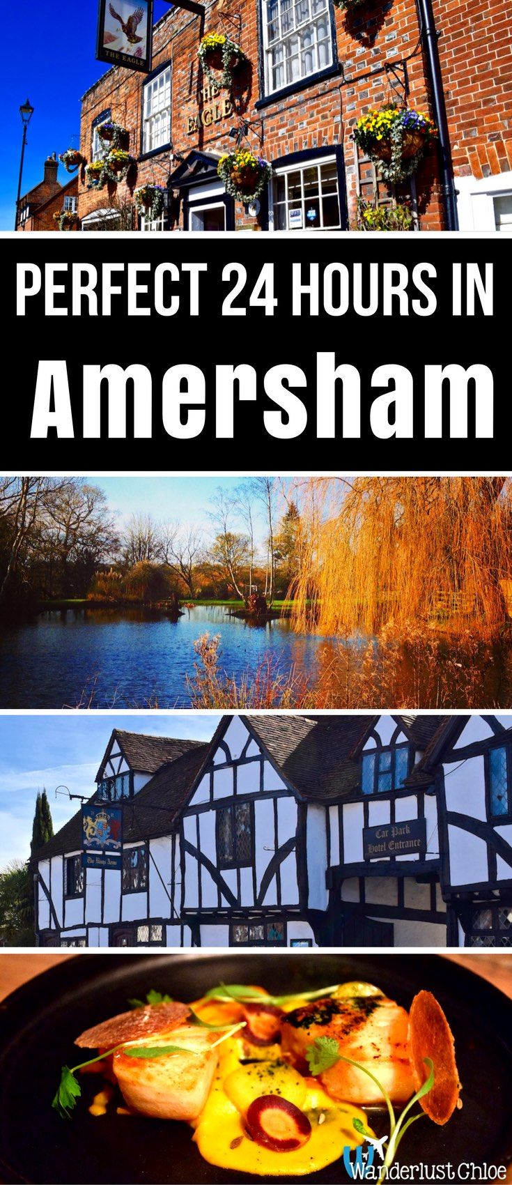 Perfect 24 Hours In Amersham, England. Top restaurants, charming cafes, historic architecture, pampering, shopping and did I mention it's even on the tube? It's not difficult to see why Amersham makes a perfect 24-hour break from London! http://www.wanderlustchloe.com/amersham-buckinghamshire-perfect-24-hour-break-london/