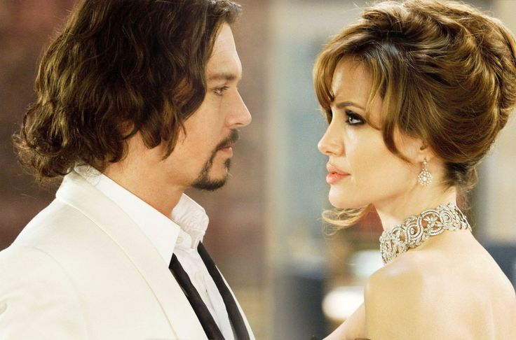 "Johnny Depp y Angelina Jolie en ""The Tourist"", 2010"