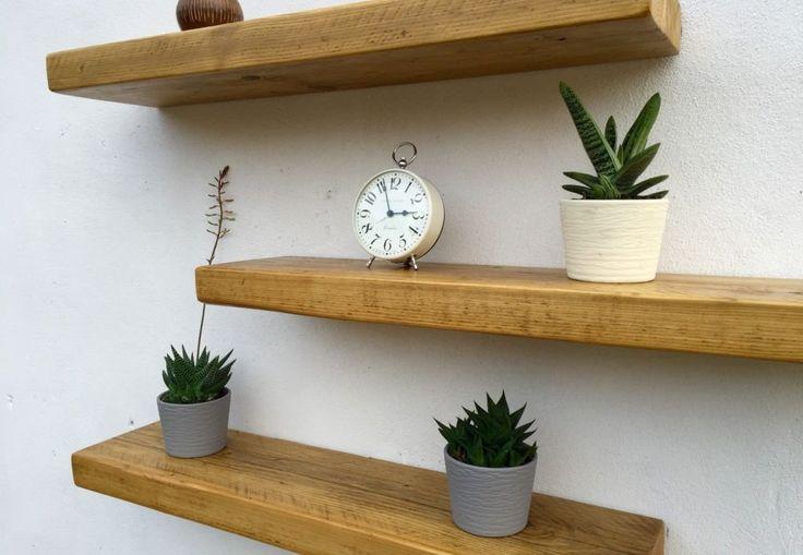 24 best unbeaten rustic floating shelves images on pinterest rh pinterest com floating shelves antique pine ikea floating shelves pine