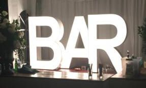 Illuminated letters for hire. How about your graduate year 2016 up in lights! Or your School initials. See Alan Casey Entertainment Agency
