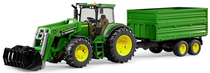 Bruder Toys John Deere Tractor 7930 with Frontloader & Tipping Trailer The John Deere 7930 has the same features as other models of the 3000 Premium Pro tractor series, i.e. a fully glazed cabin with