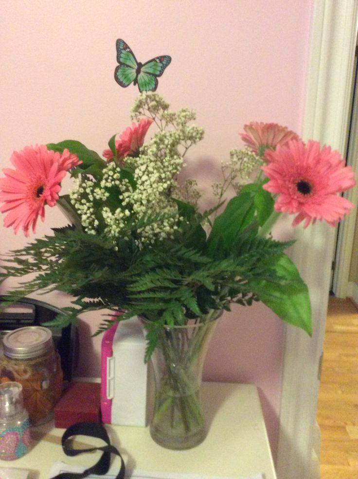 Some really nice pink and white flowers from my dad!