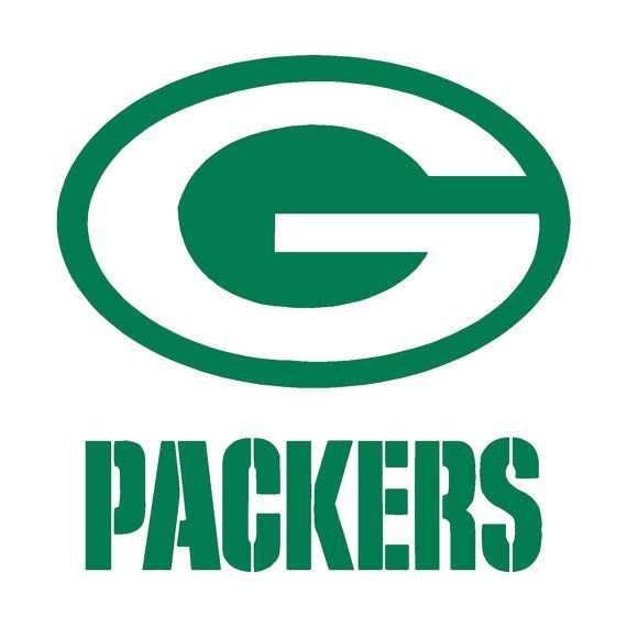 """Green Bay Packers Cornhole Decals, 18"""""""