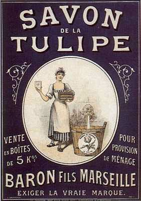 Vintage Savon de la Tulipe, Baron Fils Marseille