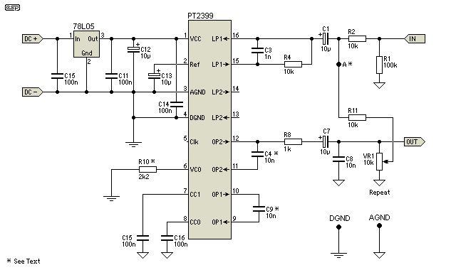 Digital Delay Unit For Surround Sound  Reverb  U0026 Echo