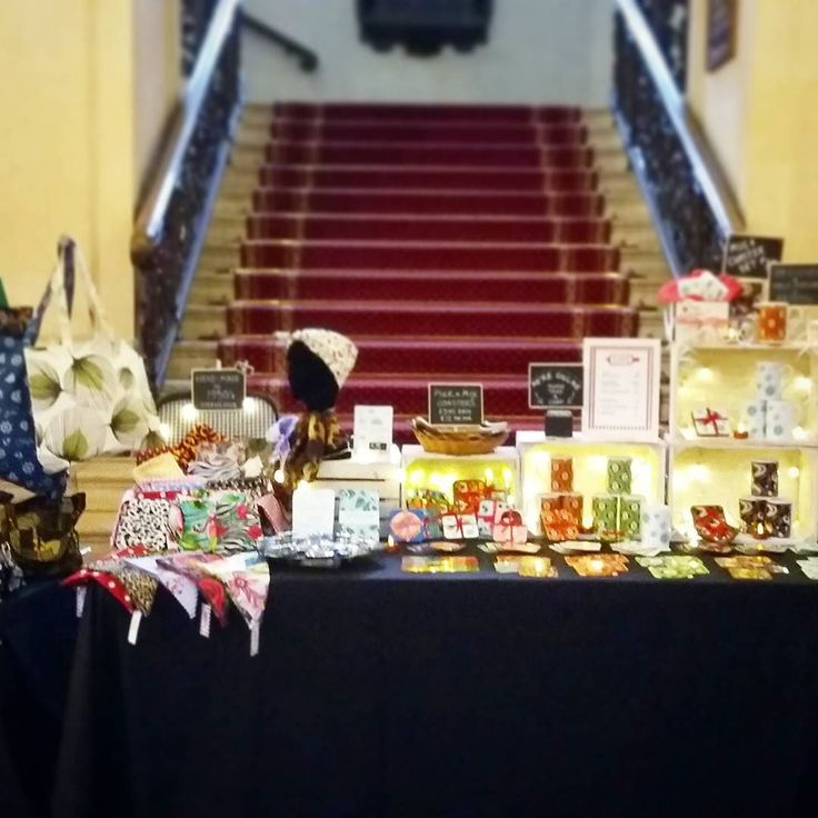 All set up in the grand surroundings of Cardiff City Hall for Lou Lou's Vintage Fair today. Open till 4pm for fabulous unique Christmas Shopping! @loulousvintagefair #loulousvintagefair