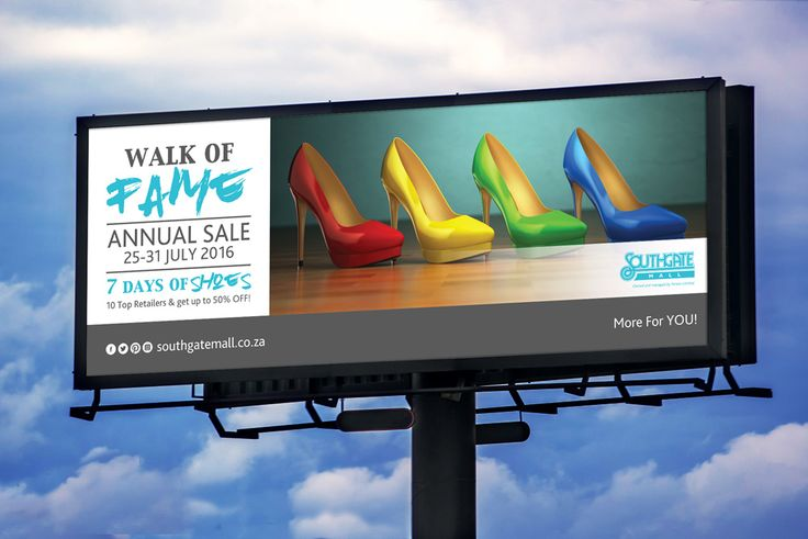 http://www.creativecollective.co.za      Events | Activations | Entertainment | Promoters | Design | Kids | Rental | Gifting | Shopping Centre  Event Billboard created for The Walk of Fame @ Southgate Mall