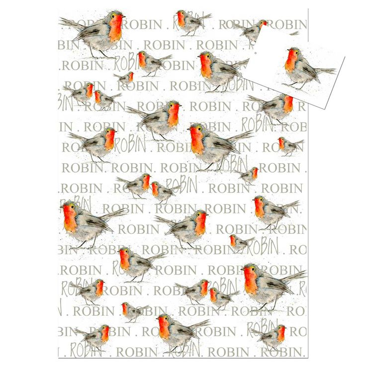 Robin Wrapping Paper by Sarah Boddy