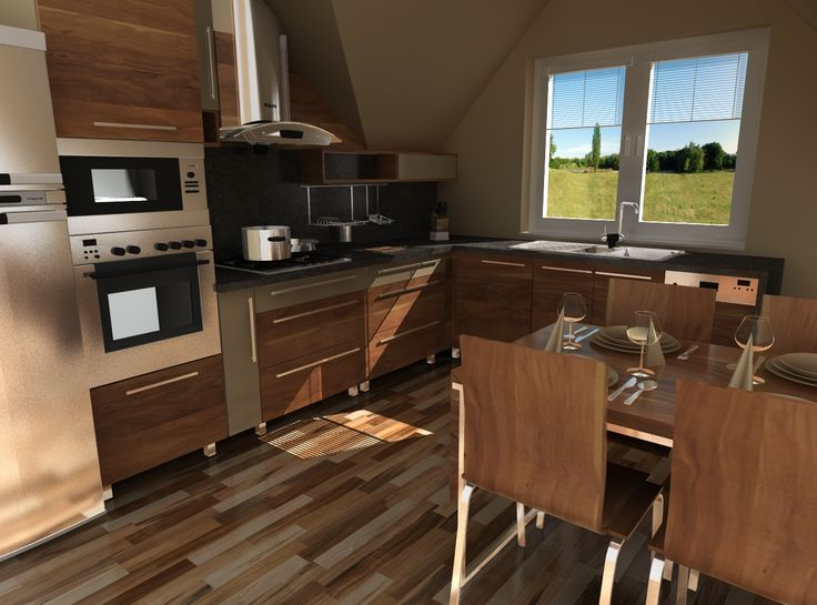 Kitchen 3D model/rendering created in TurboCAD Professional CAD software | #TurboCAD #CAD