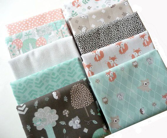 Forest Friends Fabric Fat Quarter Bundle 100/% Cotton Sewing Craft Quilting Fox