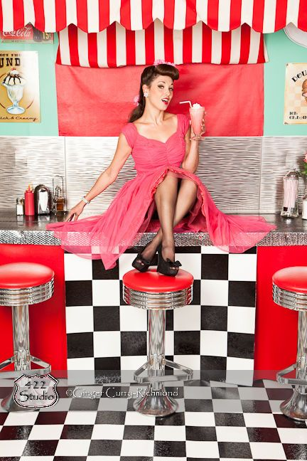 This pin-up beauty is Nichole Moore.