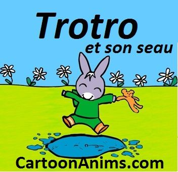Trotro et son seau - l'ane Trotro