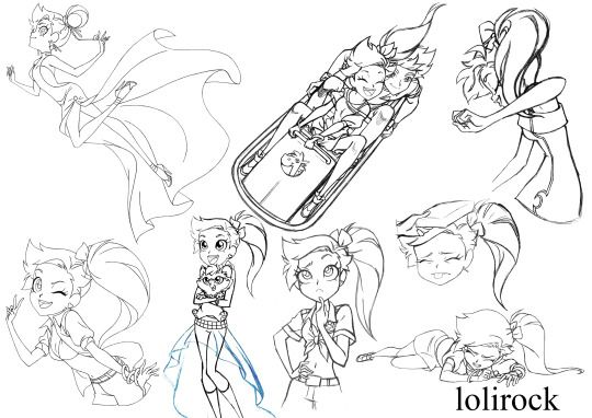 Team Lolirock Cool Drawings Character Design Sketches