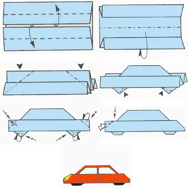 Car Origami Instructions How To Paper Crafts Pinterest Origami