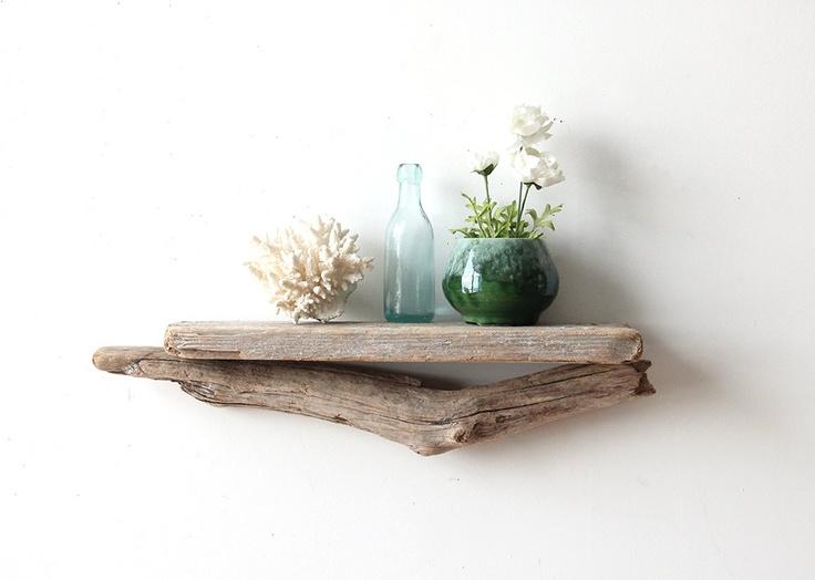 Sculptural Natural Driftwood Shelf