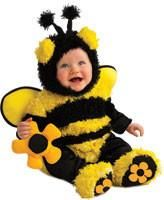 Infants/Toddlers Buzzy Bee Costume - includes: yellow and black striped, fuzzy, bumble beeromper with attached wings, flower tail and flower soleson the footi