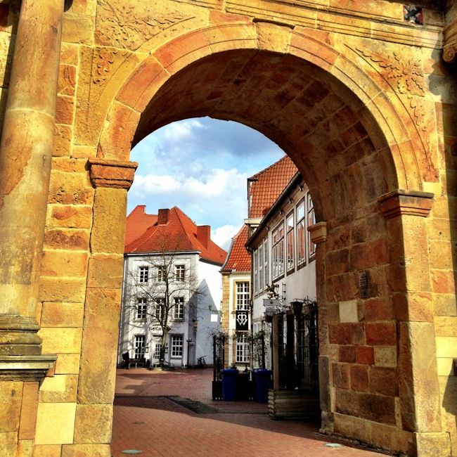 Marvelous Gate into Osnabrueck Germany