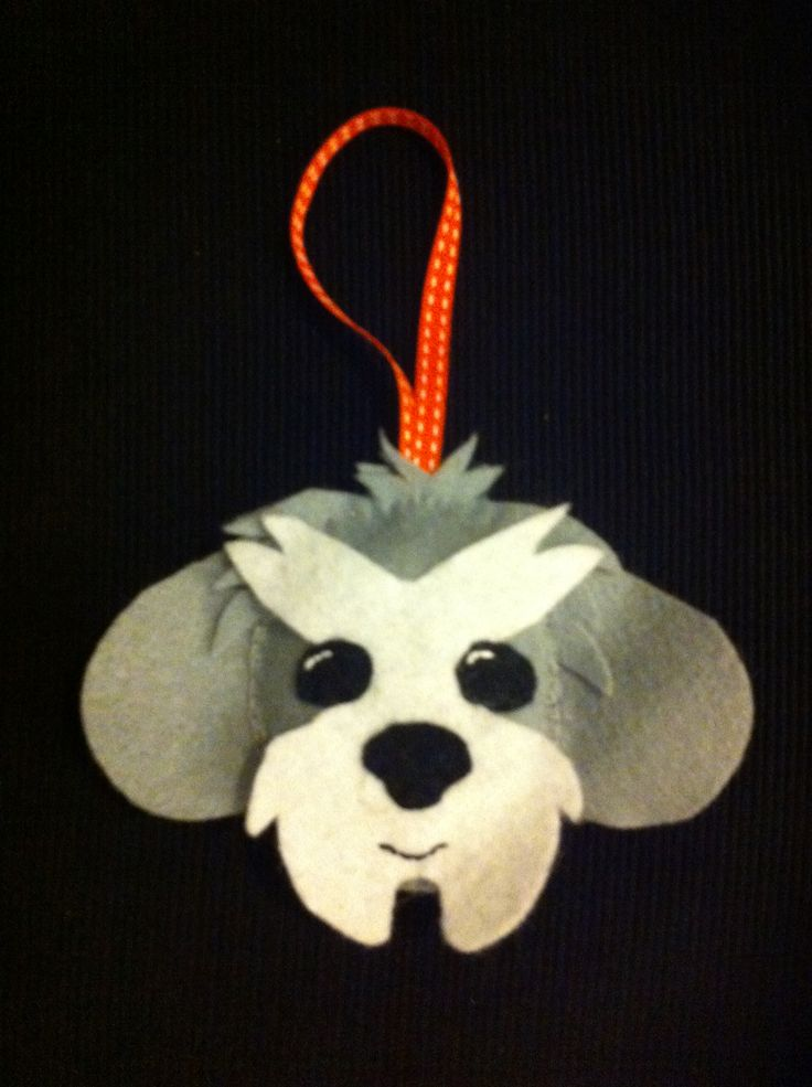 Shih tzu felt ornament