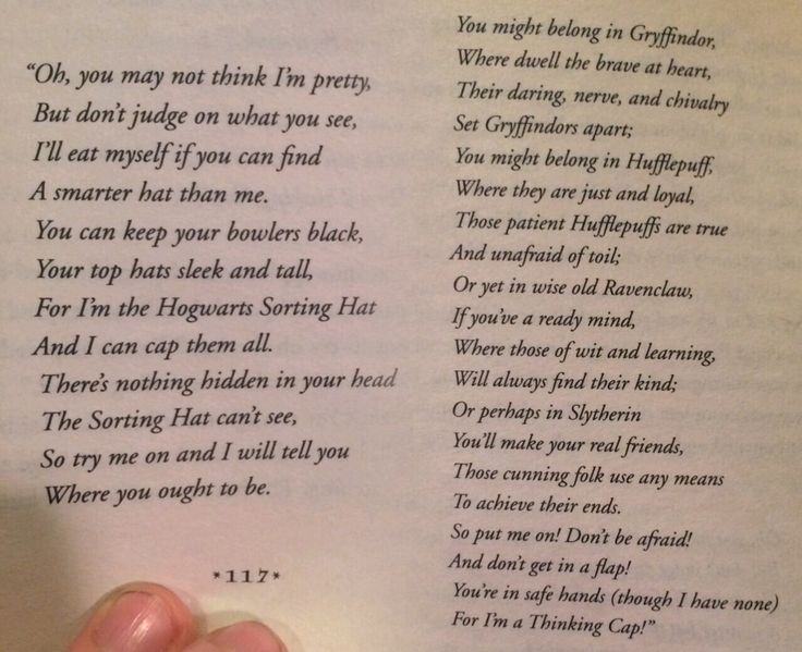 Harry Potter Sorting Hat Song