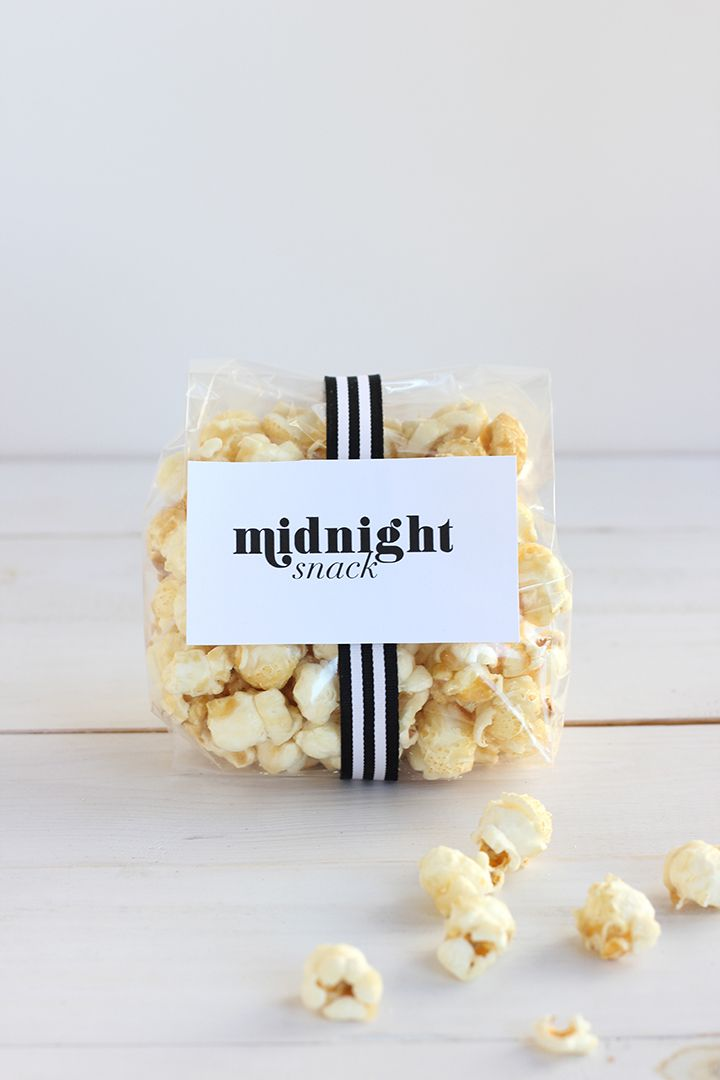DIY Wedding Favor Midnight Snack Free Printable