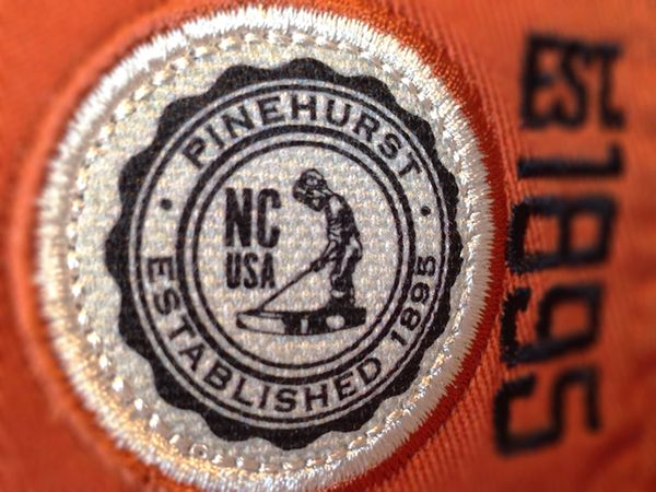 Golf designs for headwear. Embroidery, applique, patch, and printed labels.