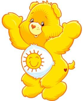 yellow care bear - Google Search