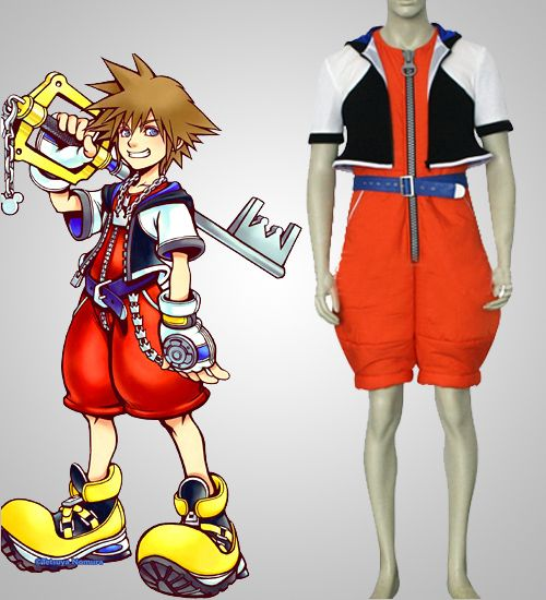 Discount Sora Costume in Kingdom Hearts Cosplay Costume Sell Online