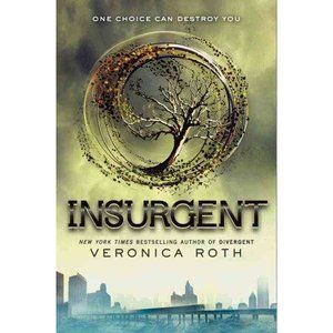 Insurgent the second of the Divergent series. Such a wonderful series! I can't wait for the next one to come out. A true page turner.