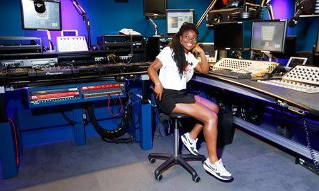 'Like a kid before Christmas': Clara Amfo at the 1Xtra studio last week.