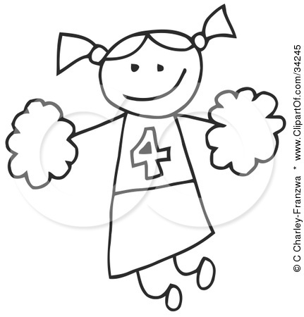 cheerleader color pages printables