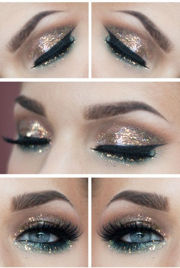 Today, we have picked up The Best Glitter Makeup Ideas For New Year's Eve to get you prepared for the best and most special night of the year.