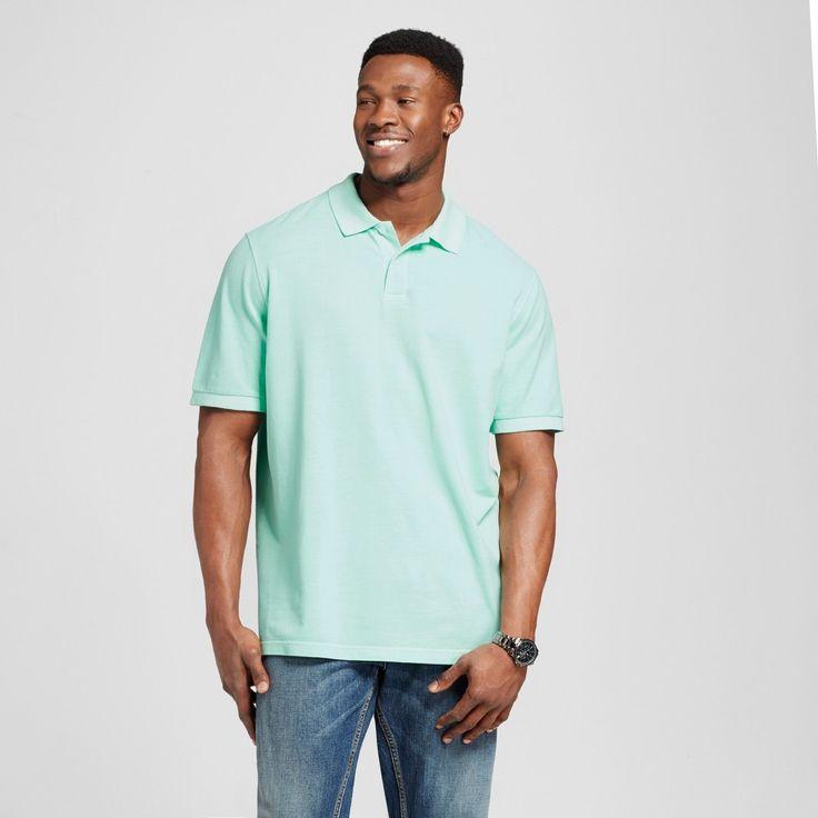 Men's Big & Tall Polo Mint (Green) M Tall - Merona
