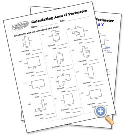 Calculating Area & Perimeter- choose your parameters- regular and complex shapes