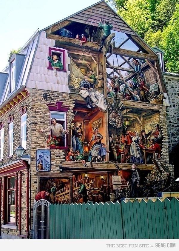Street art - a leglátványosabb 3 dimenziós épületfestmények!,  #3d #alkotás #díszítés #festészet #figura #graffiti #ház #külföld #látvány #látványos #művészet #otthon24 #streetart #utcakép #utcaművészet #város #városkép, http://www.otthon24.hu/street-art-a-leglatvanyosabb-3-dimenzios-epuletfestmenyek/ Olvasd el http://www.otthon24.hu/street-art-a-leglatvanyosabb-3-dimenzios-epuletfestmenyek/