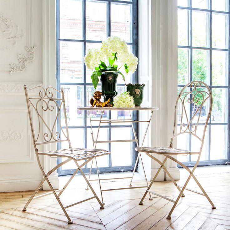 """Складной прямоугольный #стул """"Тюильри"""",  складной #стол """"Тюильри"""", складной круглый стул """"Тюильри"""" (белый антик), #ваза, #статуэтка, #мебель, #интерьер, #furniture, #objectmechty, #interior"""