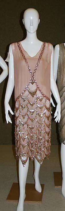 Dress, Evening    Date:      1925  Culture:      French  Medium:      silk, rhinestones
