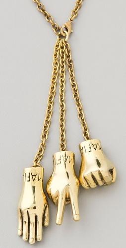 Rock Paper Scissors Necklace by Monserat De Lucca
