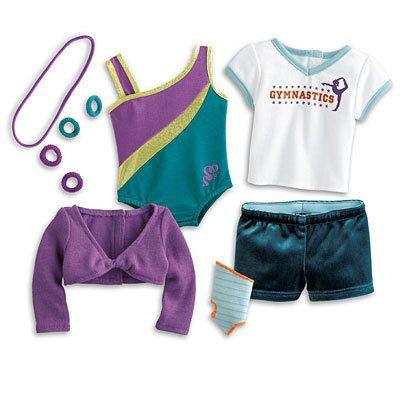 NIB American Girl McKenna's Practice Wardrobe Girl of The Year 2012 Gymnastics | eBay