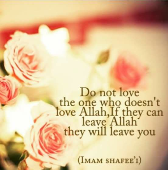 Love the one who love Allah