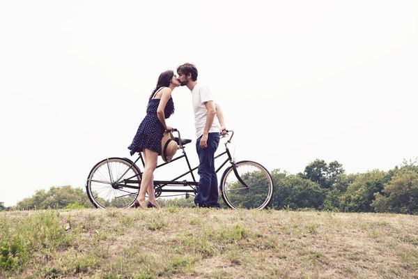 two words, tandem bike