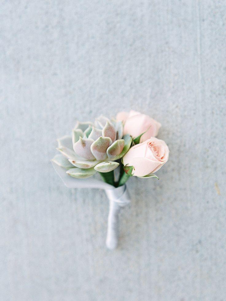succulent boutonniere  - Melissa Jill Photography