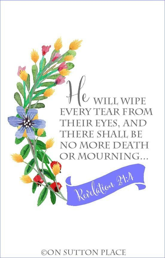 Revelation 21 Free Printable & Floral Numbers | Original printable with the beloved bible verse from Revelation. Frame and use for DIY wall art or crafts.
