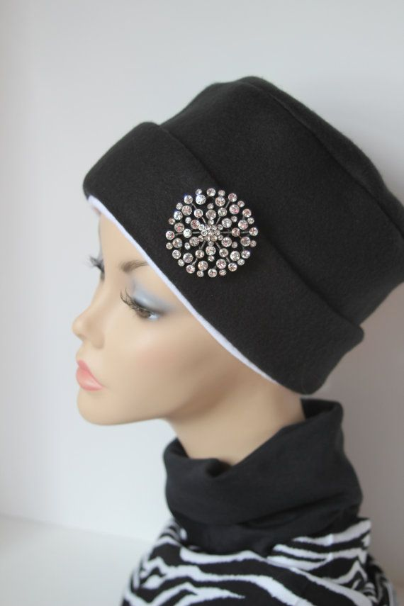 Black Chemo Hat Cancer Cap Womens Soft Warm Polar Fleece Beanie Winter Men on Etsy, $14.00
