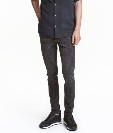 Skinny Low Jeans | Black washed out | Men | H&M US