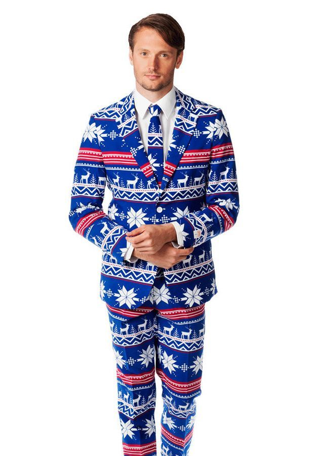 Uh-Oh, Ugly Christmas Sweater Suits Are Here