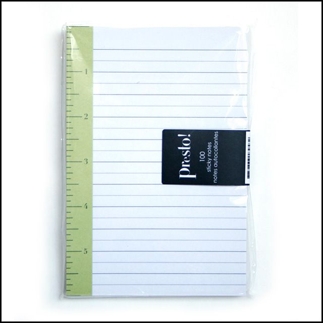 Presto Self-Stick Notepad, $7.50
