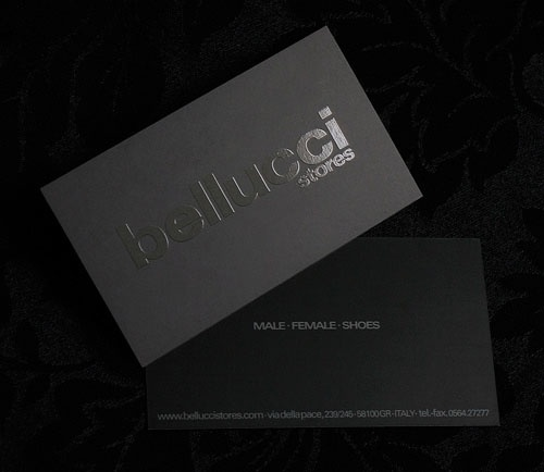 Black Business Cards Design
